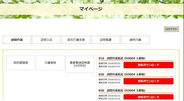 コンフォーム・パッケージ マイページ